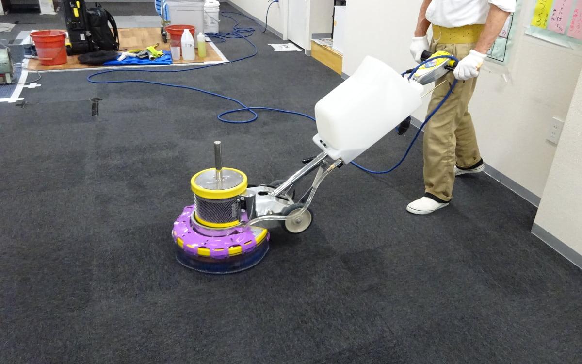 東京都江戸川区の社会福祉施設事業者様 放課後等デイサービスの教室のカーペットの消臭クリーニング
