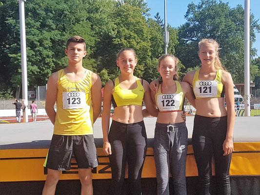 erfolgreiche Teilnehmer der U16 Süddeutschen in Ingolstadt 2017