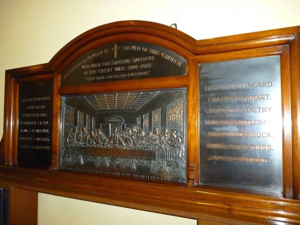 Targa commemorativa dei caduti di Market Rasen nella guerra del 1914-1918