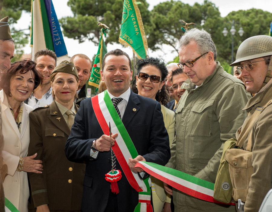 Inaugurazione della via dedicata a luigi Ferrari, con il Sindaco Diego Ruzza, la Senatrice Cinzia Bonfrisco, il regista Mauro Vittorio Quattrina, l'Assessore alla Cultura Michele Caneva