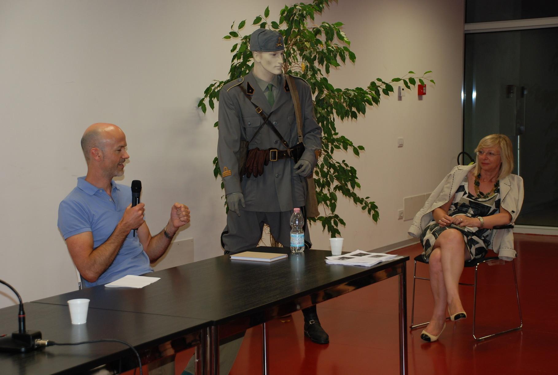 Presentazione di John Griffith figlio del soldato inglese Stan Griffith