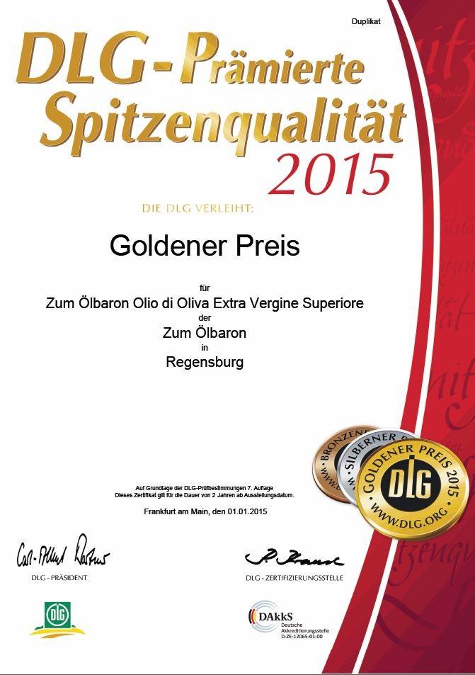 Zum Ölbaron DLG Gold 2015