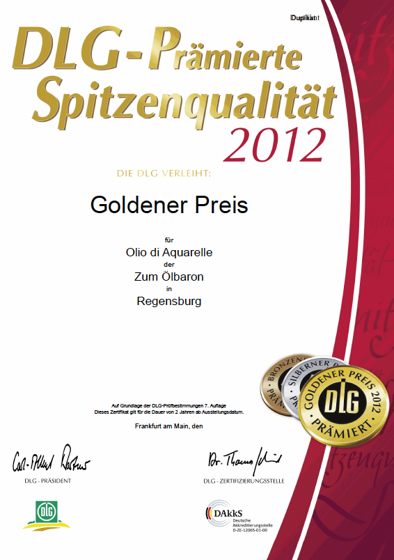 Zum Ölbaron DLG Gold 2012