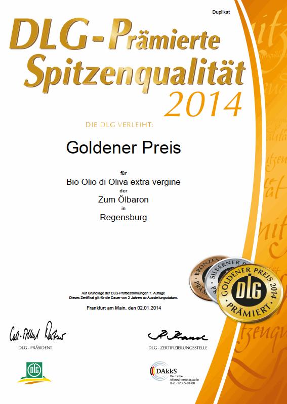 Zum Ölbaron DLG Gold 2014