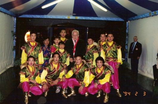 Troupe Sukhbaatar avec le Prince Rainer à Monte Carlo 1994