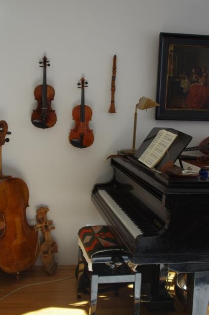 Geigenlehrer in München-Obergiesing, Unterrichtsraum