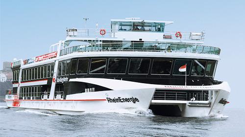 Kölner Lichter Schiff Rheinenergie