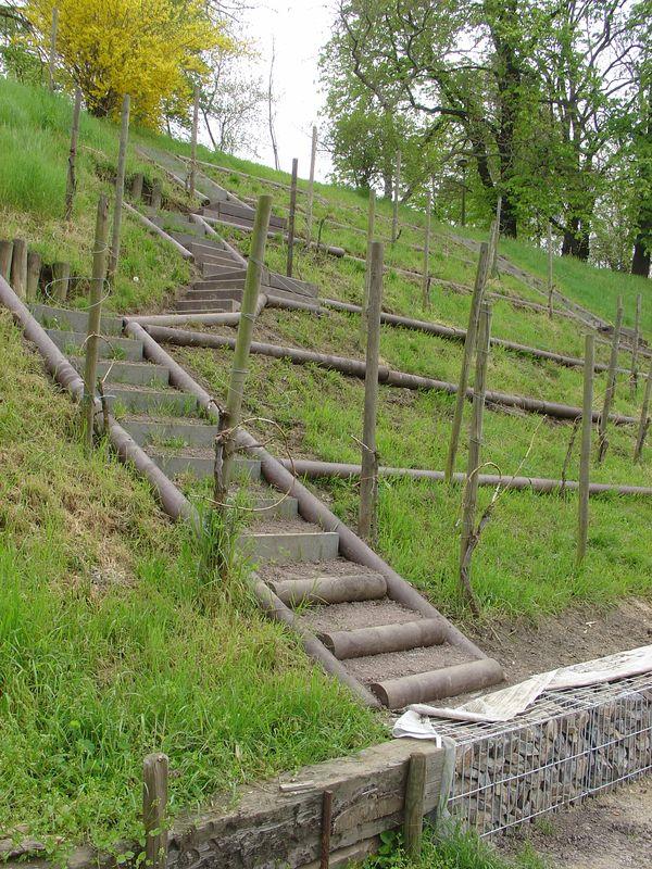 Neue Stufen, Querbalken und Gabione - DANKE GALA MIBRAG !