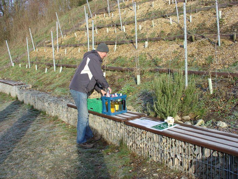 Vorbereitung am Weinberg