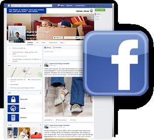 "Grafik: ""Webscreen unserer Facebooksite"" - Copyright Facebook / SIGNAL IDUNA Generalagentur Homfeldt, Hamburg-Rahlstedt"