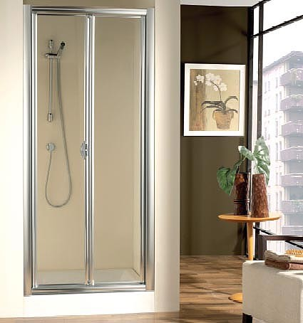 Mampara de ducha plegable Doccia Burdeos