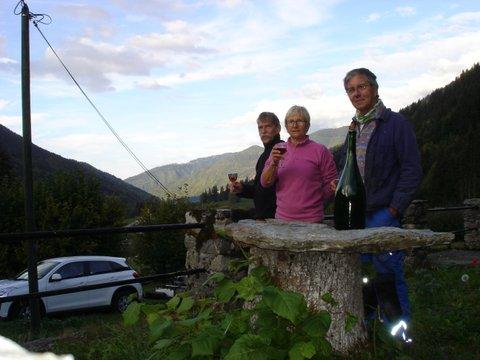 Henri, Martine et Jacques qui ont mené ce chantier