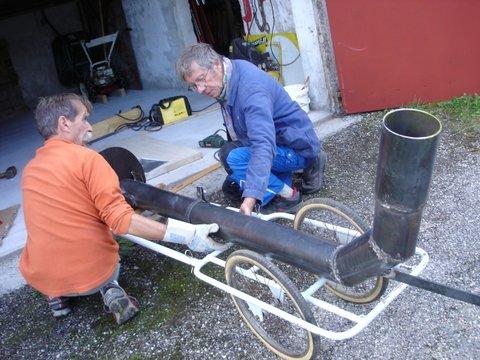 Le nouveau tuyau prêt à partir