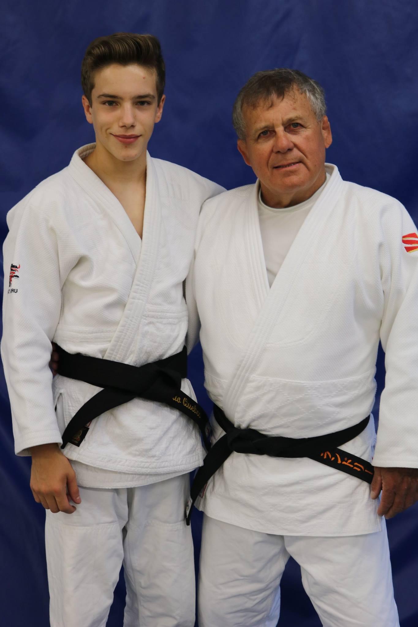 Justin Tremblay et Sensei Yves Landry