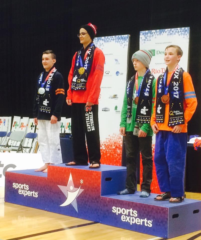 Kenny Bellemare, médaillé de bronze -55KG