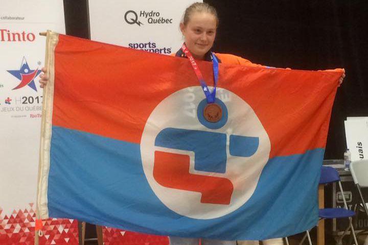 Alyson Cloutier, médaillée de Bronze -63Kg