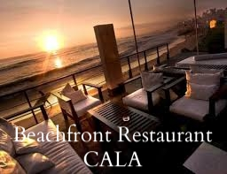Terrasse des Beachfront Restaurants CALA