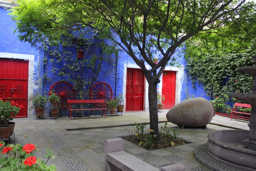 Das bunte Santa Catalina Kloster in Arequipa