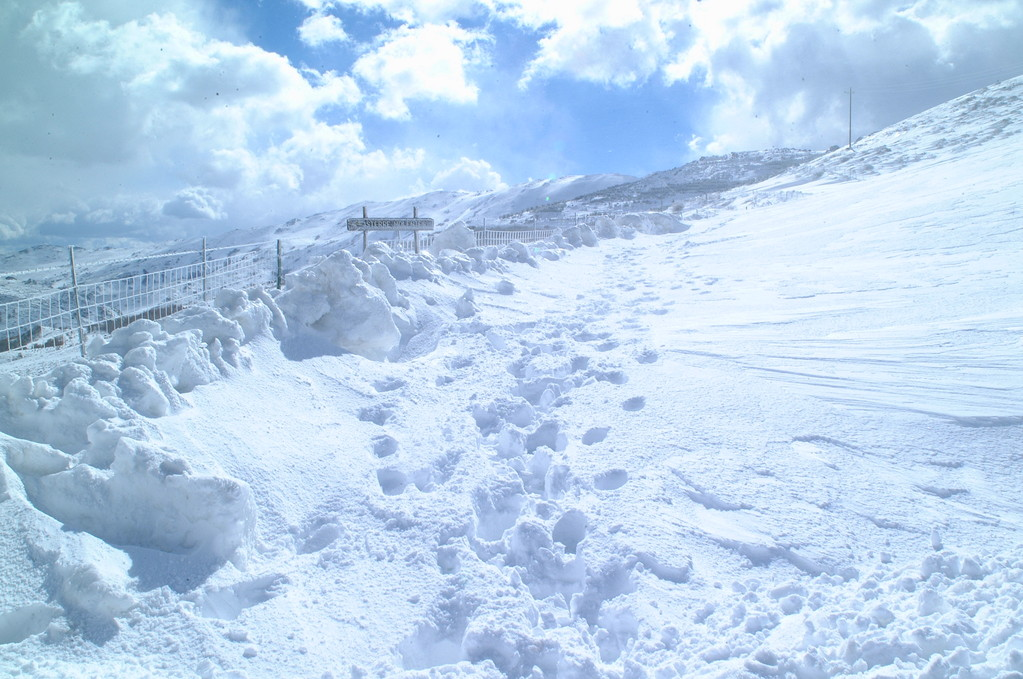 Snow in the Gennargentu mountain