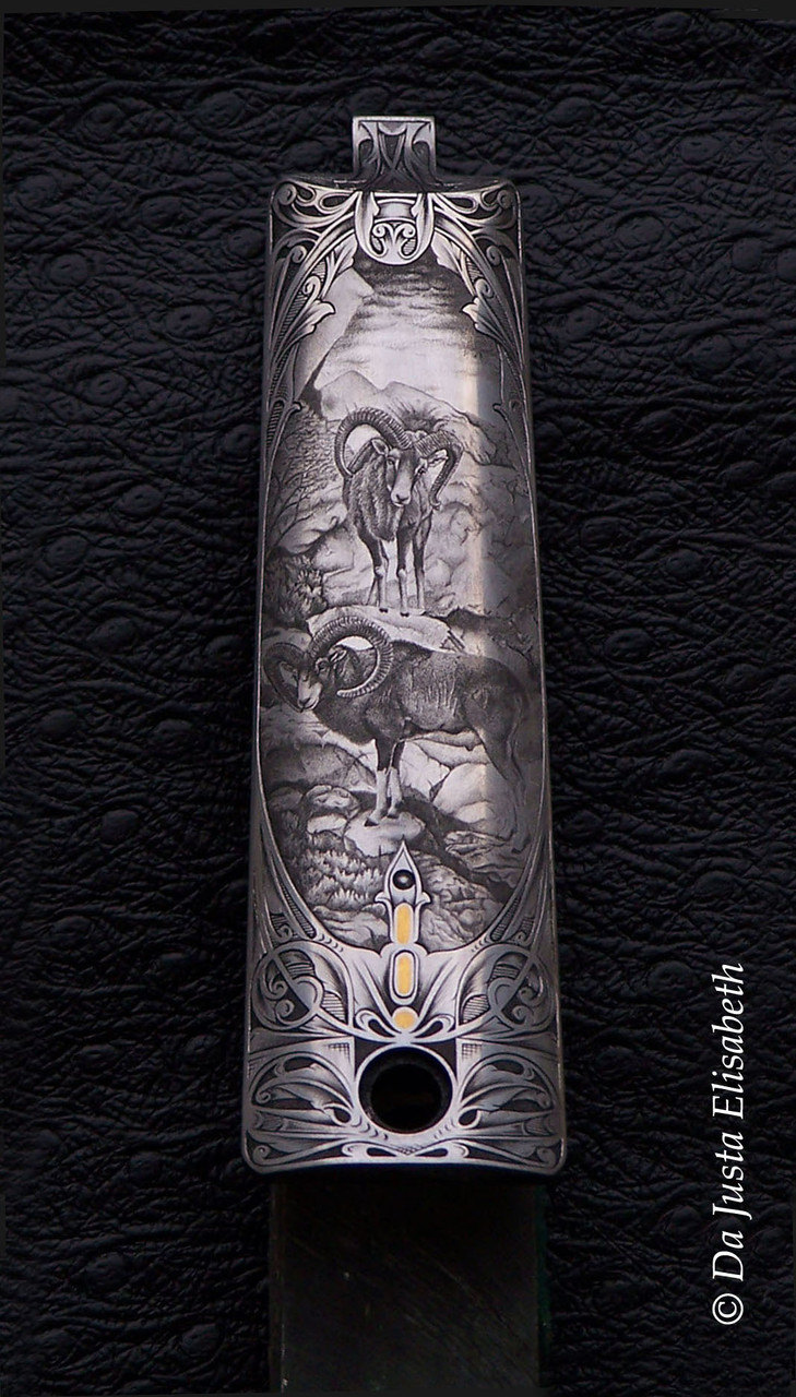 engraving in hollow-bottom, bulino and gold inlays