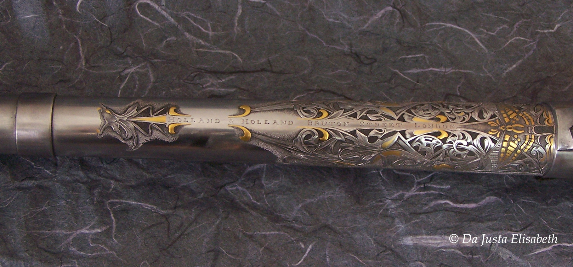 Gravure gothique H&H: cal 375. f-creux, incrustation or