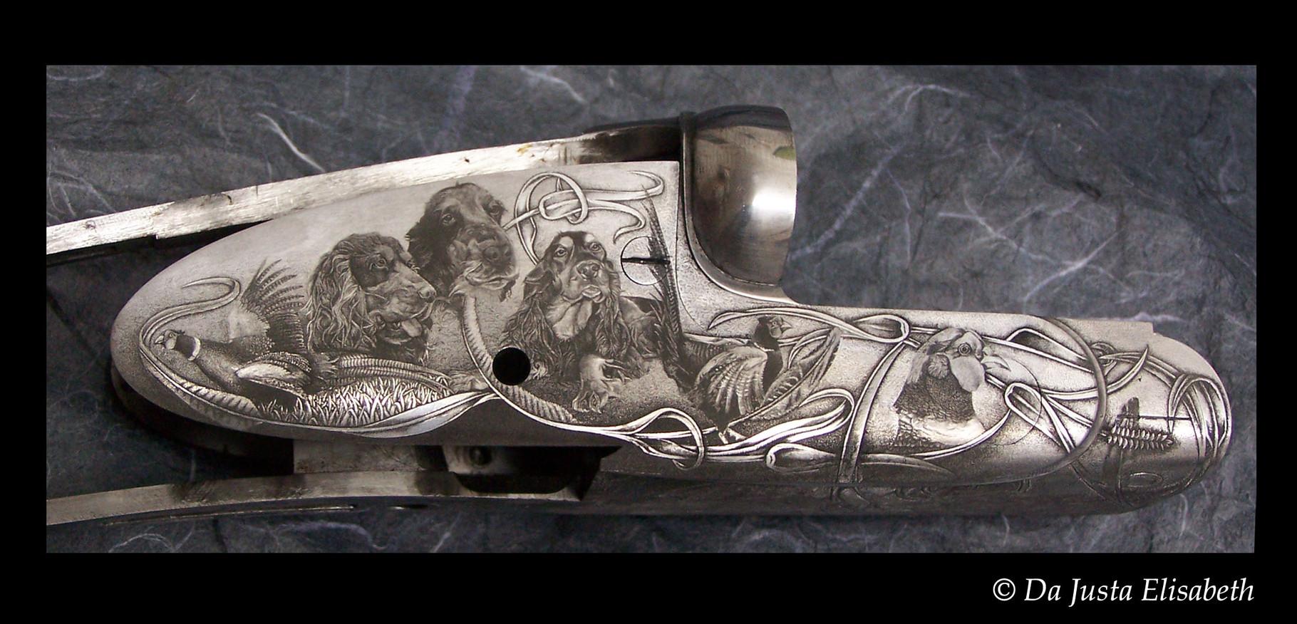gravure cocker-faisan