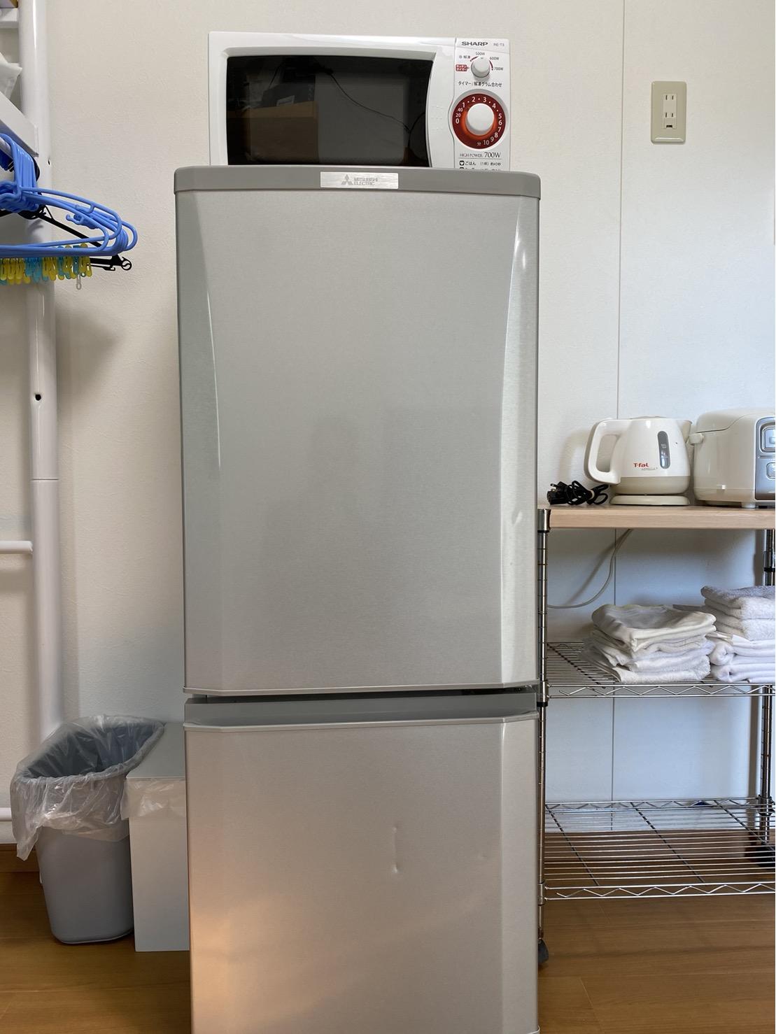 冷蔵後、電子レンジ、炊飯器をはじめ調理家電、調理器具なども揃えています