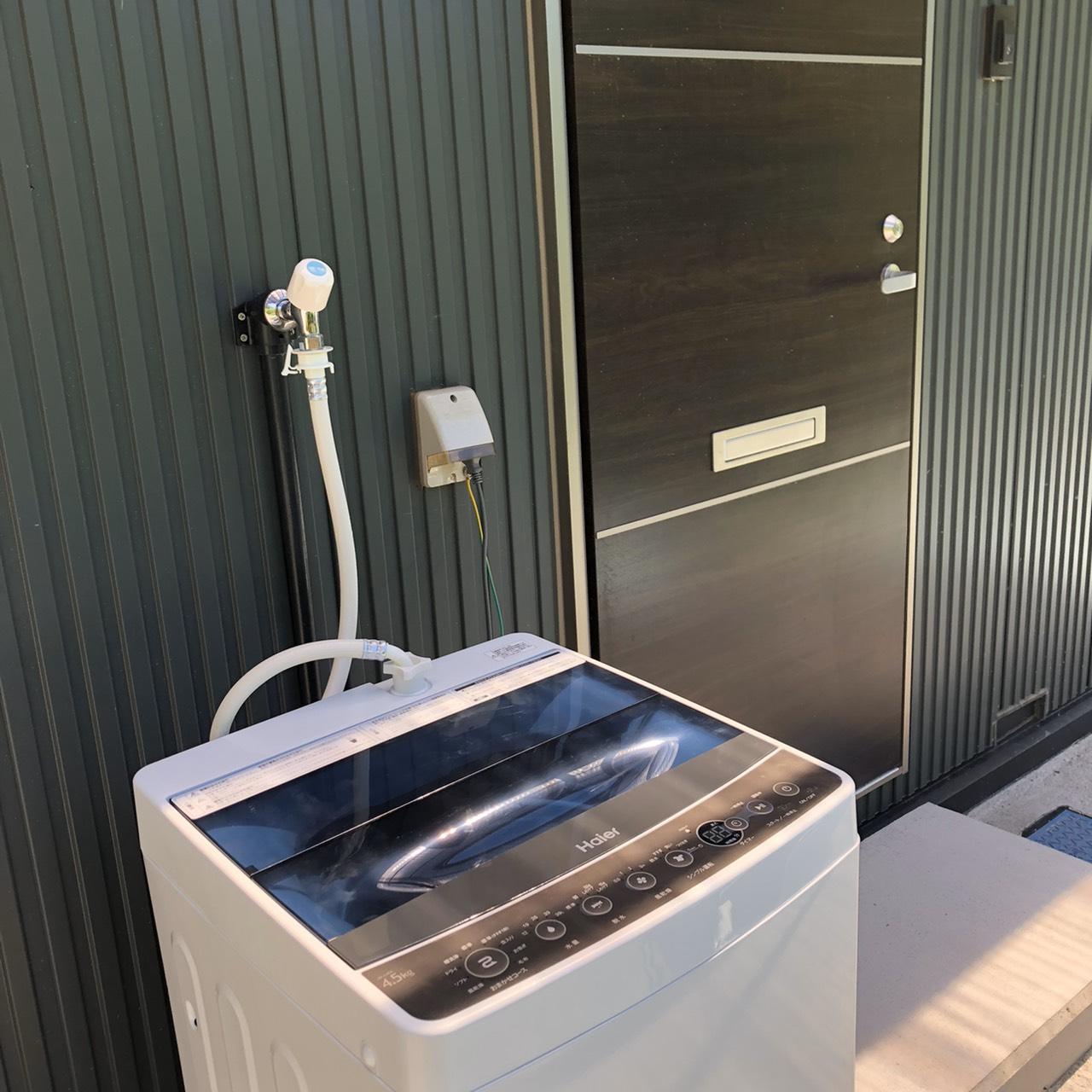 玄関横には洗濯機もご用意しています