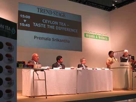 スリランカ紅茶局によるステージ「Ceylon Tea   Taste The Difference」