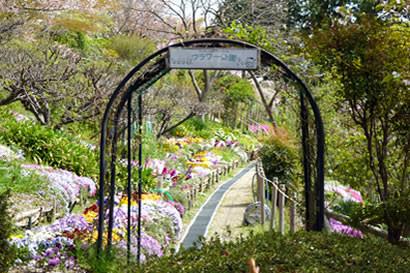 フラワー公園・・「どうぞお入りください」と誘います。