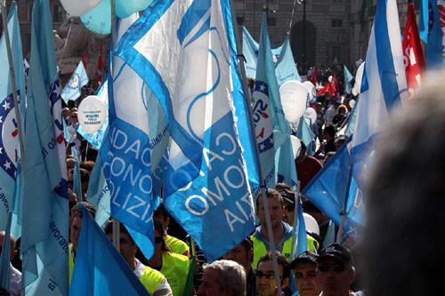 Manifestazione a Roma Comparto Sicurezza