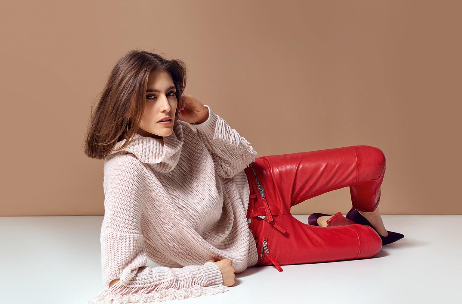 Esisto Herbst Winter 2018 Cashmere Mode - Pullover rosa