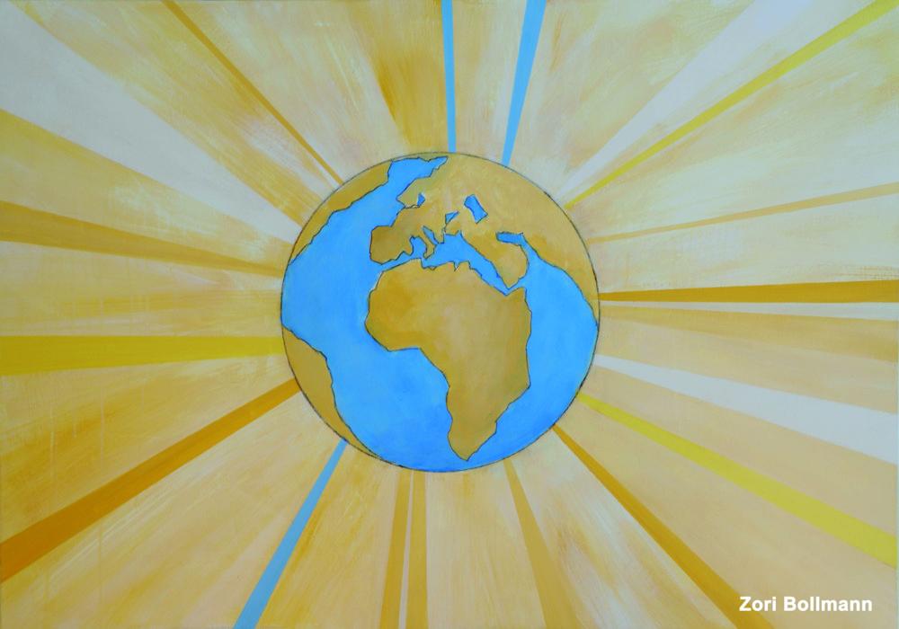 """""""Sonne über Erde"""" von Zori Bollmann"""