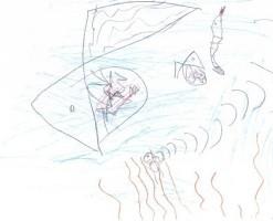 """Bild aus """"Der kleine Wassermann"""" von Tobias Kleylein, 1.Klasse"""