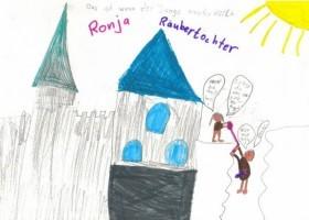 """Bild aus """"Ronja Räubertochter"""" von Tamara Becker, 3.Klasse"""