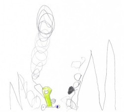 """Bild aus """"Jim Knopf - Im Tal der Dämmerung"""" von Maximilian Huber, 1.Klasse"""