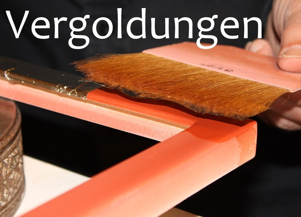 Vergolden in unserem Atelier