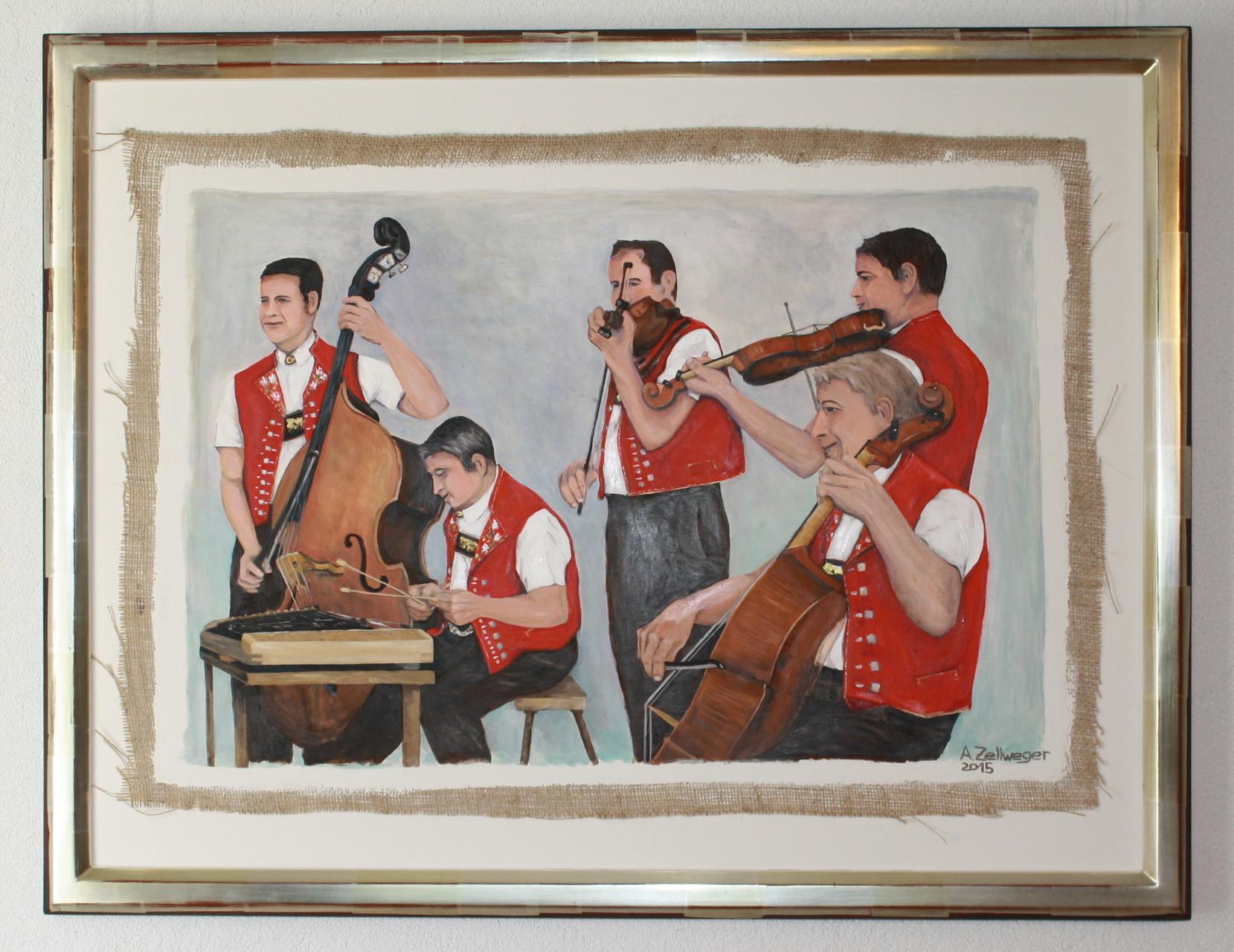 Oel/ Rahmen Weissgold Aussenmass 95 x 75 cm Fr. 5'400.--
