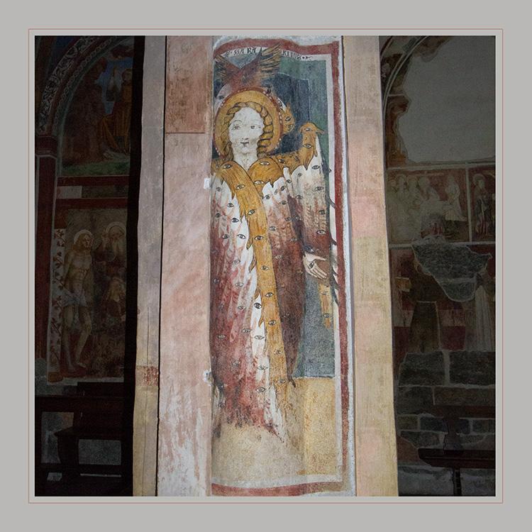 Wandmalerei in der Basilika San Giulio auf der gleichnamigen Insel  im Ortasee