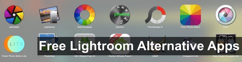 Free Lightroom Alternative and Raw photo editors to Download for PC
