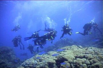 Sprudelbad im Roten Meer
