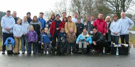 Die Teilnehmer des diesjährigen Abtauchens