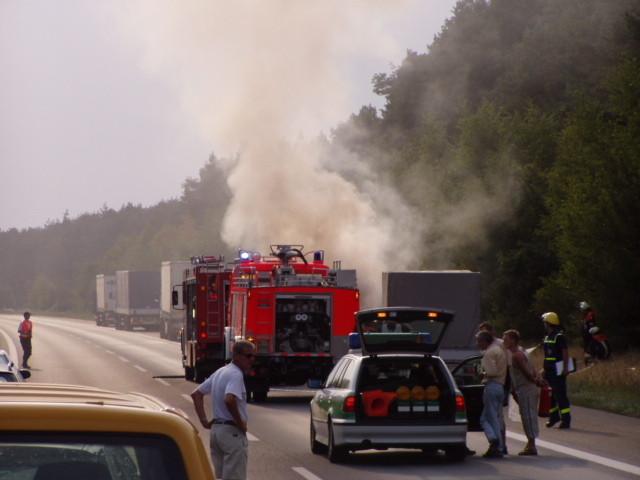 Unfall auf der BAB A6 zwischen den Anschlusstellen Nürnberg und Schwabach am 08.08.2003