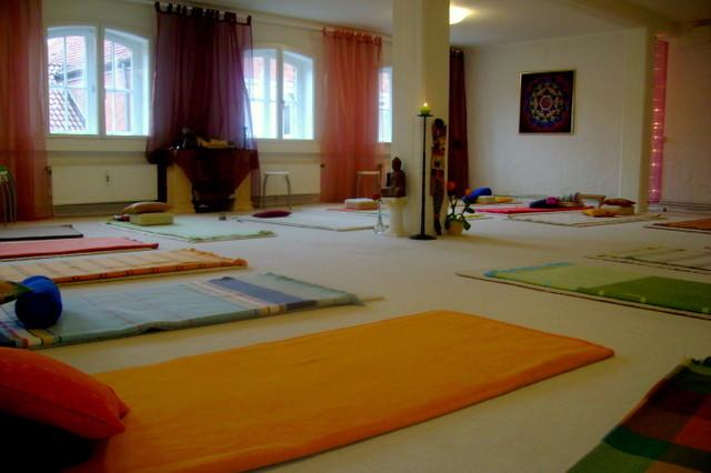 Yoga-Raum am Morgen