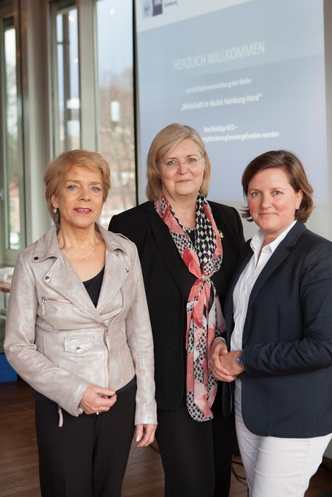 Nachhaltige SEO - Organisatorinnen: Carmen.Möller, Martina.Klode, Dr.Gabriele.Rose - Foto: Handelskammer Hamburg/Bungert