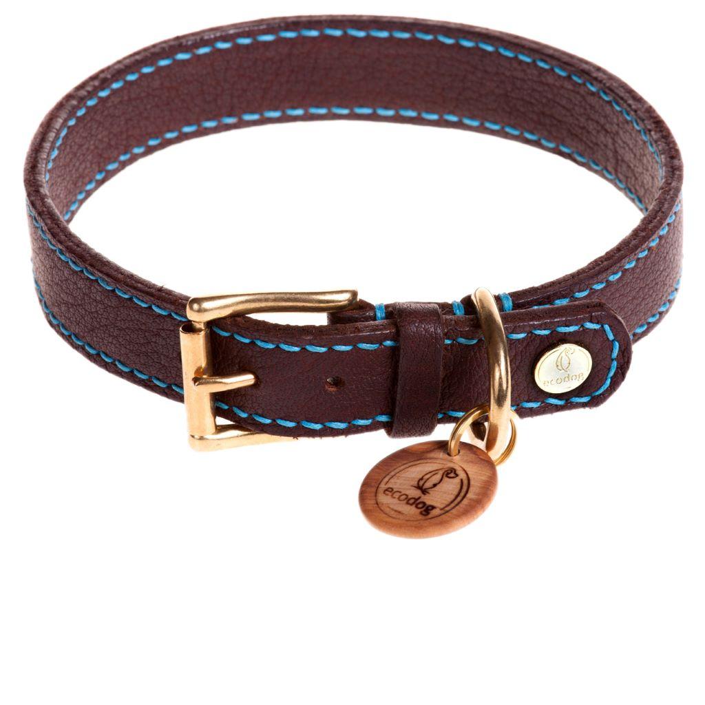 ecodog®Halsband handgenäht aquatürkis