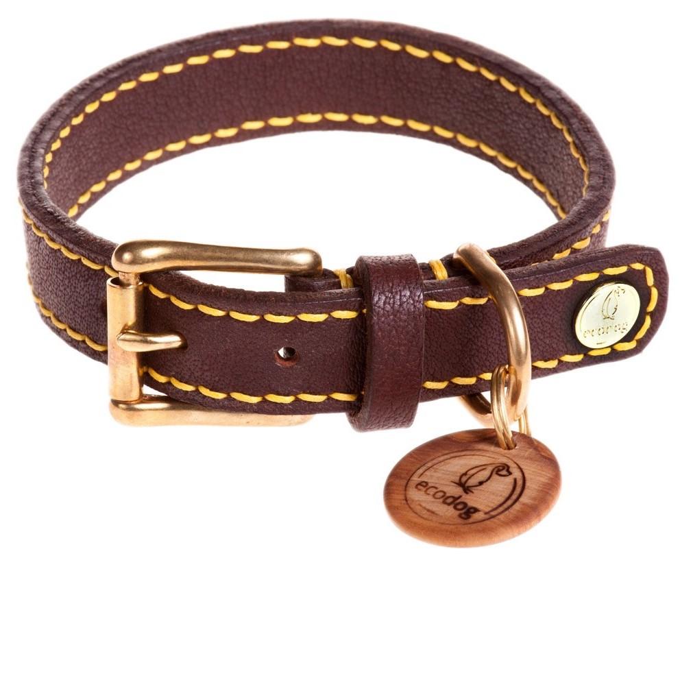 ecodog®Halsband handgenäht sommergelb