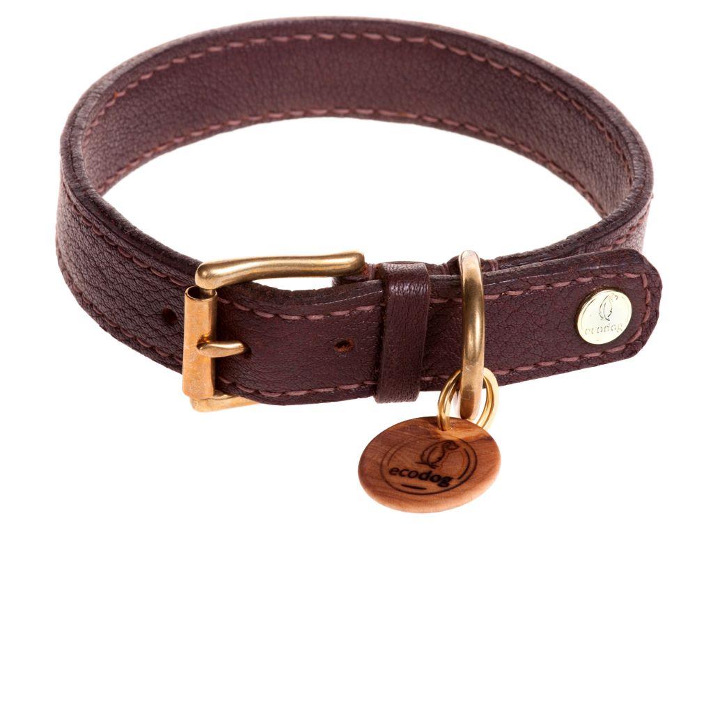 ecodog®Halsband handgenäht schokobraun