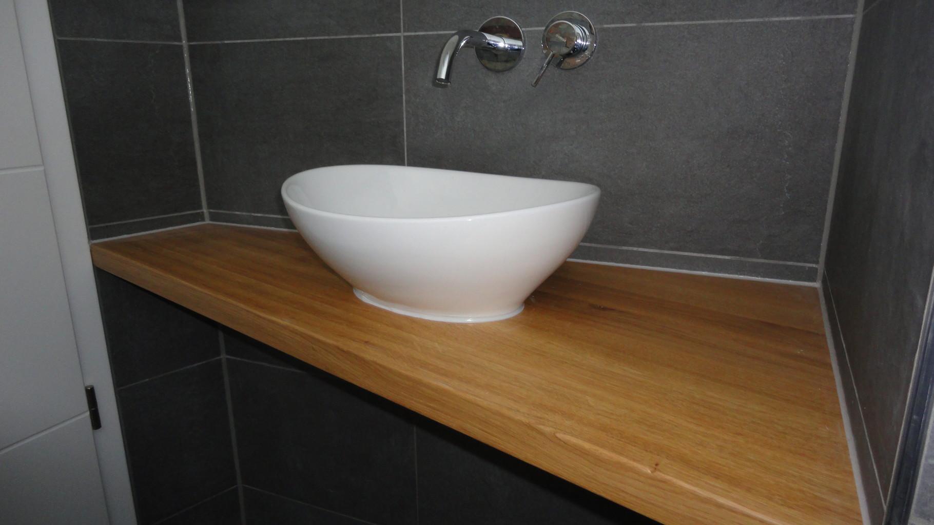 Waschbecken-Nische / Eiche