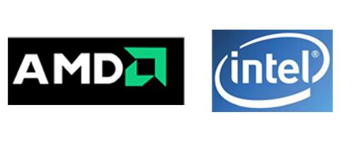 CPUは、AMDとIntelがある